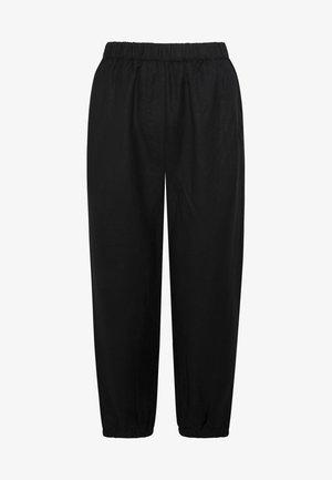MIT BÜNDCHEN - Trousers - black