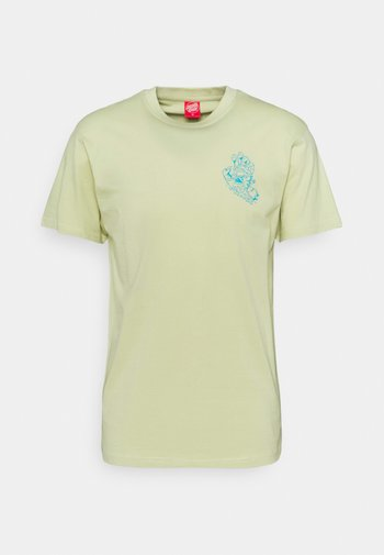 EXCLUSIVE UNIVERSAL HAND UNISEX - Print T-shirt - greenish