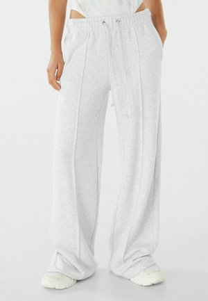 WIDE LEG - Tracksuit bottoms - light grey