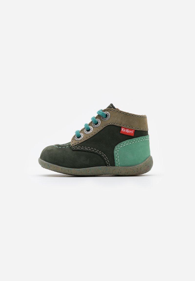 Kickers - BONZIP - Dětské boty - kaki/vert