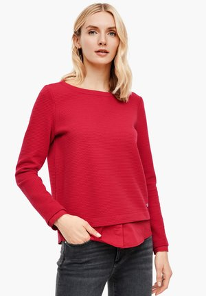 Sweatshirt - dark red