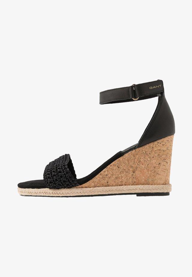 PELICANBAY  - Sandály na vysokém podpatku - black