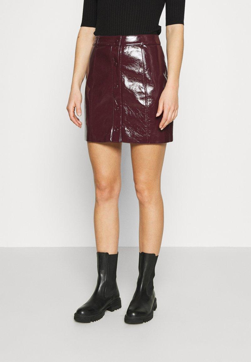 Glamorous - SKIRT - A-line skirt - burgundy