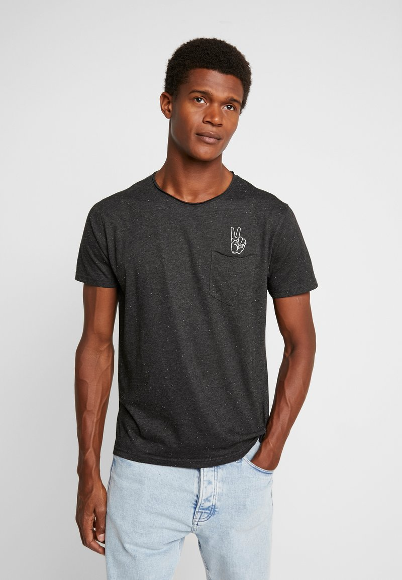 Shine Original - HAND EMBROIDERY TEE - T-Shirt print - black mix