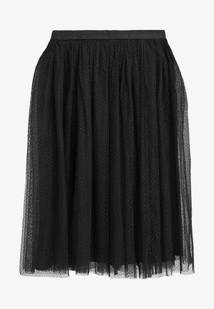 DOTTED MIDI SKIRT - A-line skirt - ballet black