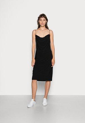 DRAPPY MINI DRESS - Denní šaty - black