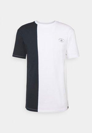 SPLIT - T-shirt print - navy/white