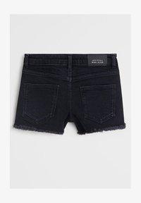 Mango - ISABEL - Shorts di jeans - black denim - 1