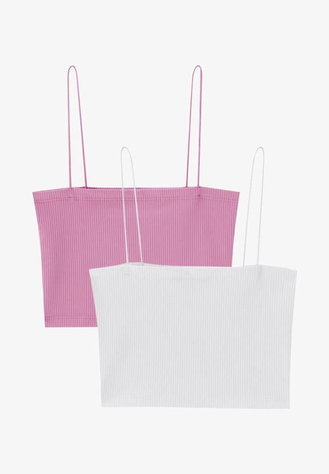 2 PACK  - Top - pink/white