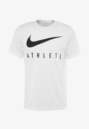 DRY TEE ATHLETE - Camiseta estampada - white/black