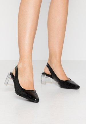 SLINGBACK HEEL SHOE - Escarpins - black