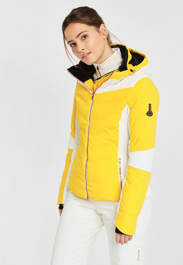Gewatteerde jas - yellow