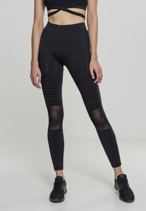 LADIES TECH MESH  - Leggings - Trousers - black