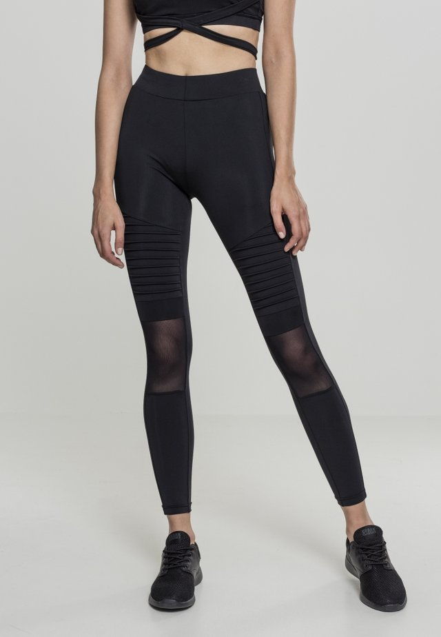 LADIES TECH MESH  - Legging - black