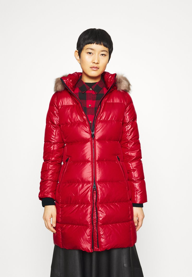 Calvin Klein - ESSENTIAL REAL COAT - Down coat - tango red