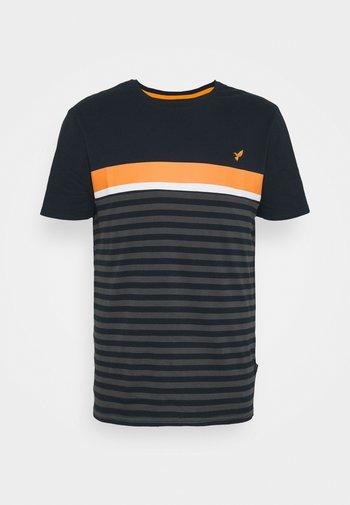 Print T-shirt - dark blue/dark grey