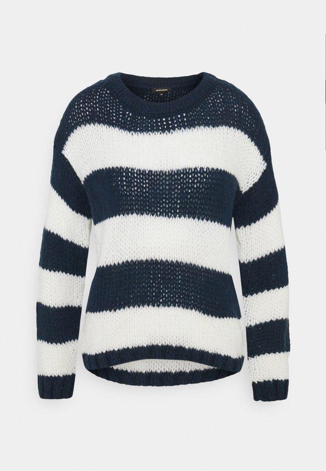 BLOCKSTRIPE LOOSE - Stickad tröja - marine/multicolor
