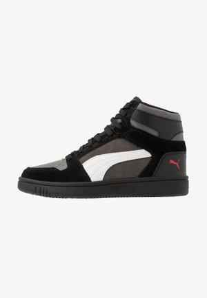 REBOUND LAYUP UNISEX - Höga sneakers - black/castlerock/white/high risk red