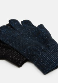 Name it - NKFMAGIC GLITTER GLOVES 2 PACK UNISEX - Rękawiczki pięciopalcowe - black/dark sapphire - 1