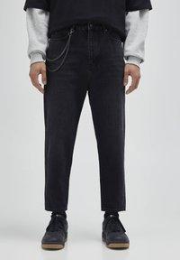 PULL&BEAR - Jeans a sigaretta - mottled dark grey - 0