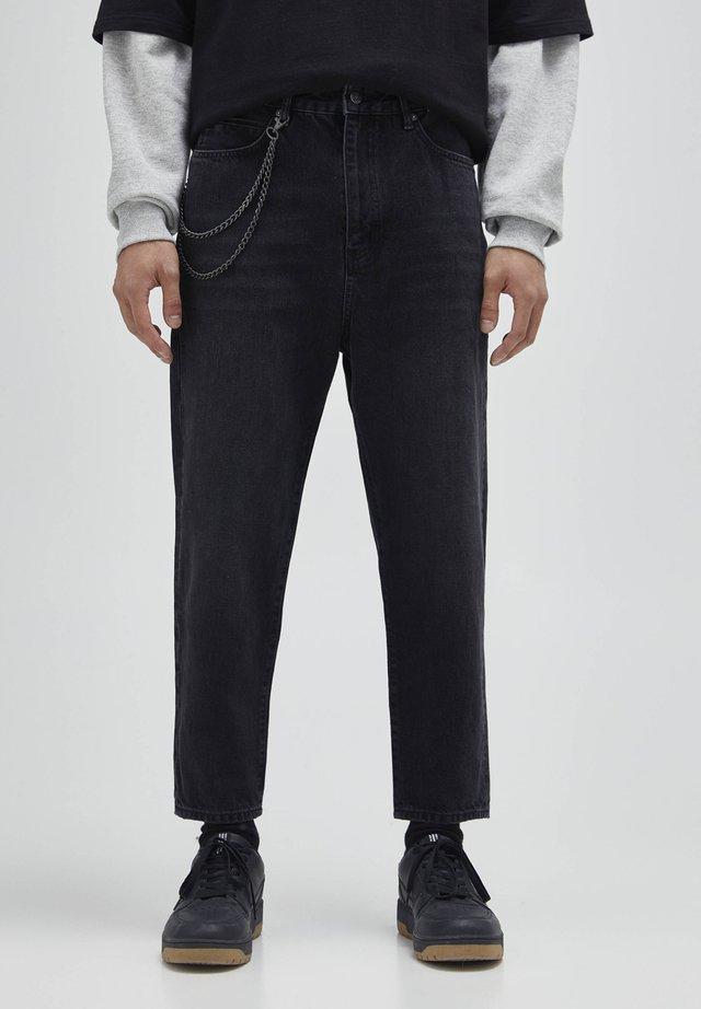 Jeans a sigaretta - mottled dark grey