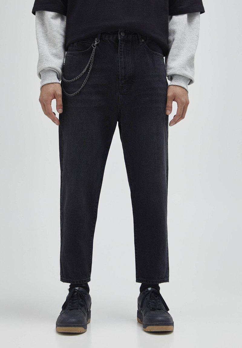 PULL&BEAR - Jeans a sigaretta - mottled dark grey