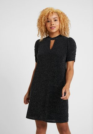 BRILLO RUCHE SLEEVE DRESS - Vestido de cóctel - black