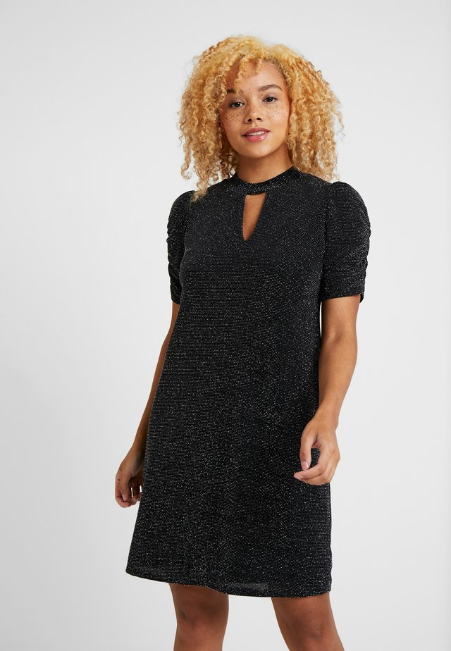 BRILLO RUCHE SLEEVE DRESS - Cocktail dress / Party dress - black