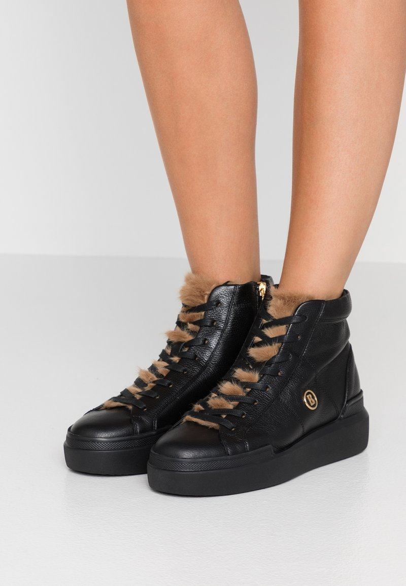 Bogner - HOLLYWOOD  - High-top trainers - black/nature