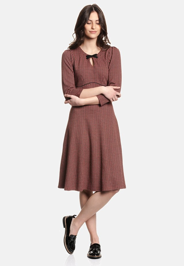 A-LINIEN-KLEID HOLLY - Day dress - rot allover