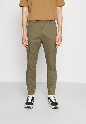 JOGGER - Cargo trousers - dry greyish olive