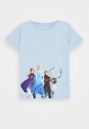 NMFFROZEN - Camiseta estampada - cashmere blue