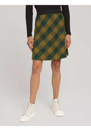 WEICHER KARO - A-line skirt - green small check ck