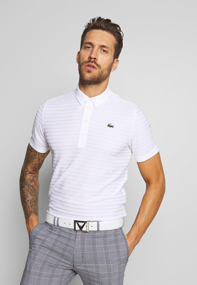 Lacoste Sport - GOLF STRIPE - T-shirt sportiva - white