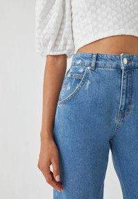 PULL&BEAR - Straight leg jeans - blue - 3