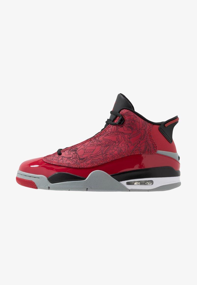 Jordan - AIR DUB  - Korkeavartiset tennarit - gym red/black/particle grey