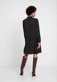 Esprit - TIERED HEM DRESS - Skjortklänning - black - 3