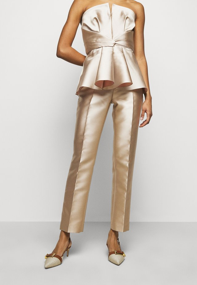 TROUSERS - Stoffhose - beige