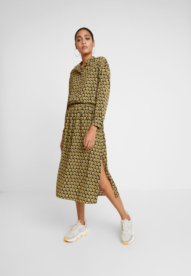 TRUDY DRESS - Day dress - black/dark yellow