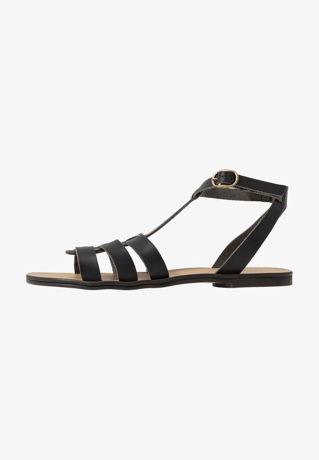 DORIA - Sandaalit nilkkaremmillä - black