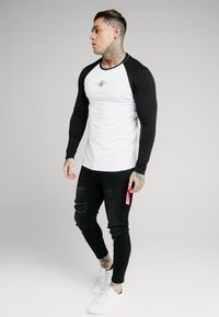 SIKSILK - SQUARE HEM TEE - Longsleeve - black/white - 1