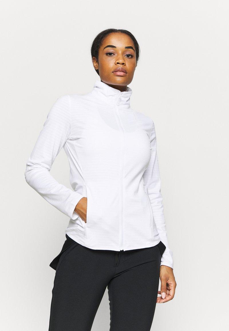 Salomon - OUTRACK - Fleecová bunda - white