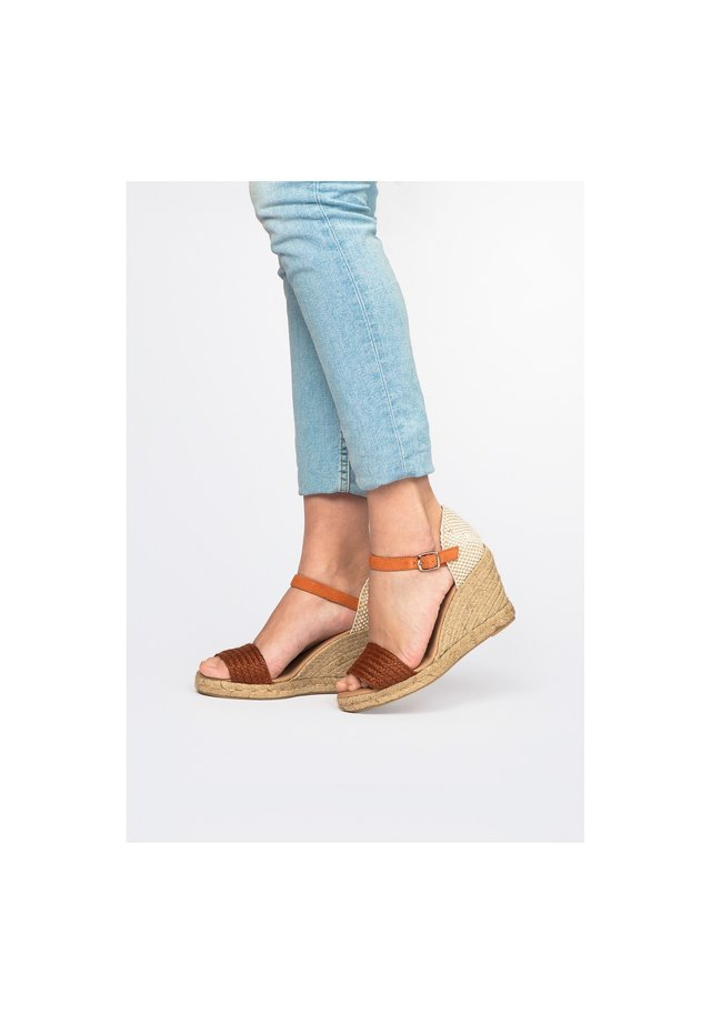 High heeled sandals - orange/orange