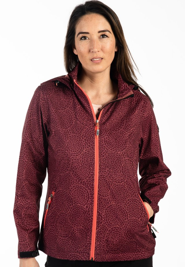 Waterproof jacket - weinrot