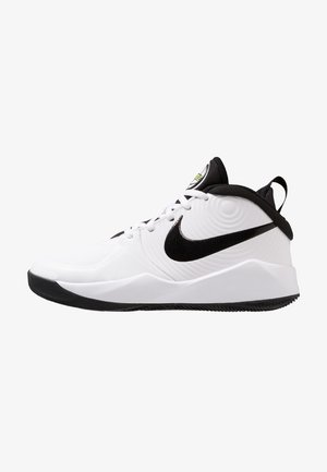 TEAM HUSTLE D 9 UNISEX - Scarpe da basket - white/black/volt