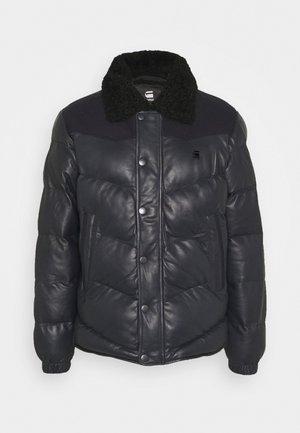 WESTERN PUFFER JKT - Leather jacket - mazarine blue