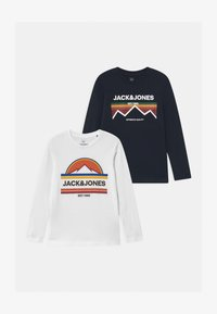 Jack & Jones Junior - JORDANIELSON CREW NECK 2 PACK - Long sleeved top - navy blazer/white - 0