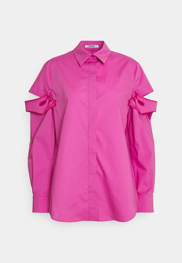 Button-down blouse - rosa intenso