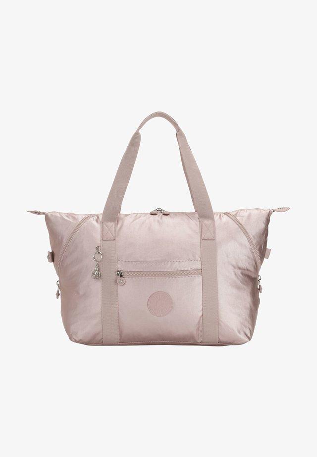 Handbag - metallic rose