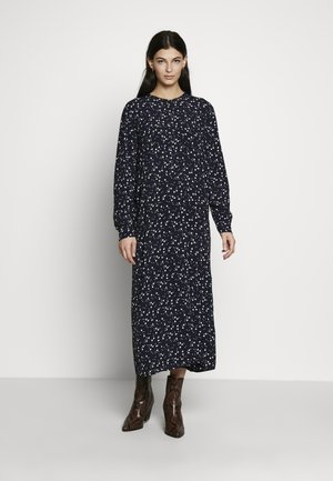 PRINT DRESS - Košilové šaty - navy